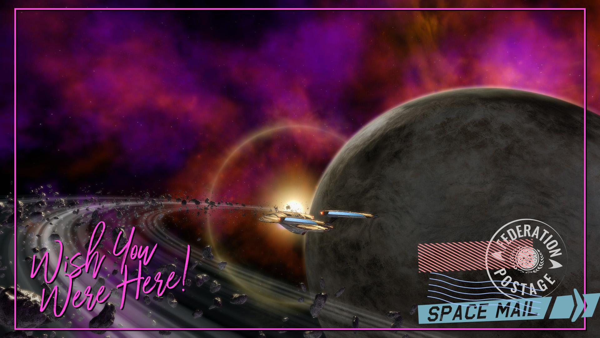 Orbiting Ringed Planet